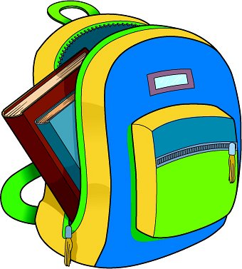 Bacjpack clipart png stock School backpack clipart free images 2 - WikiClipArt png stock