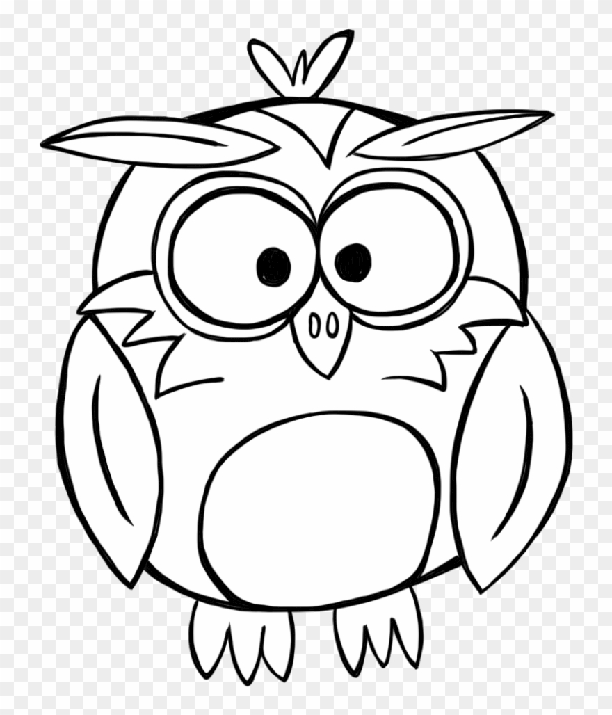 Owl clipart outline graphic free download Banner Library Download Black And White Owl Clipart - Black And ... graphic free download