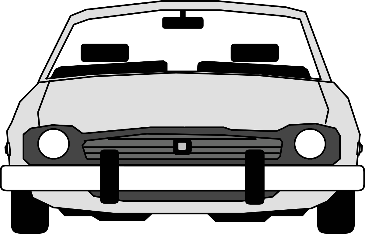 Car headlights clipart banner freeuse library Car Clipart Front View | Clipart Panda - Free Clipart Images banner freeuse library