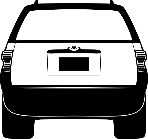 Side of a car clipart black and white Suburban Assault Vehicle (back) Clip Art at Clker.com - vector clip ... black and white
