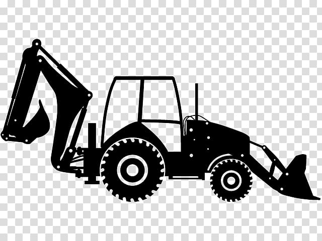 Back hoe clipart svg download Heavy Machinery Backhoe loader, tractor transparent background PNG ... svg download