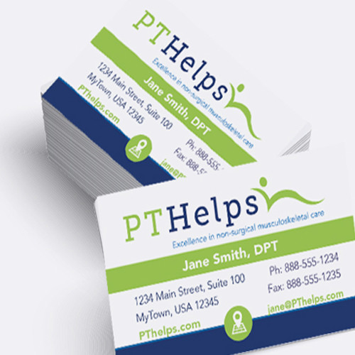 Back muscles pain clipart vistaprints freeuse stock Business Cards For Physical Therapists freeuse stock