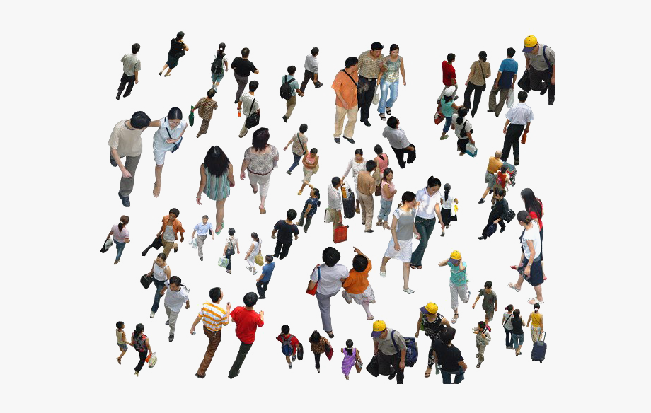 Back of a crowd clipart clip freeuse library Crowd Png Clipart Background - People Walking Top View Png #195457 ... clip freeuse library