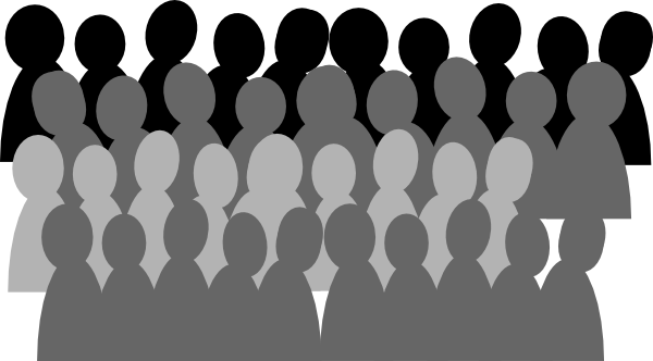 Back of a crowd clipart graphic royalty free library Audience Clipart Free | Free download best Audience Clipart Free on ... graphic royalty free library