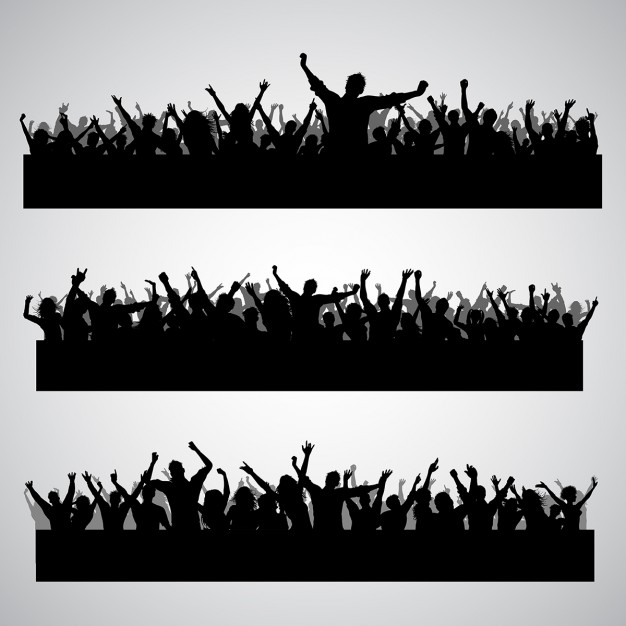 Free clipart of a outlining of crowd dancing svg black and white download Crowd Vectors, Photos and PSD files | Free Download svg black and white download