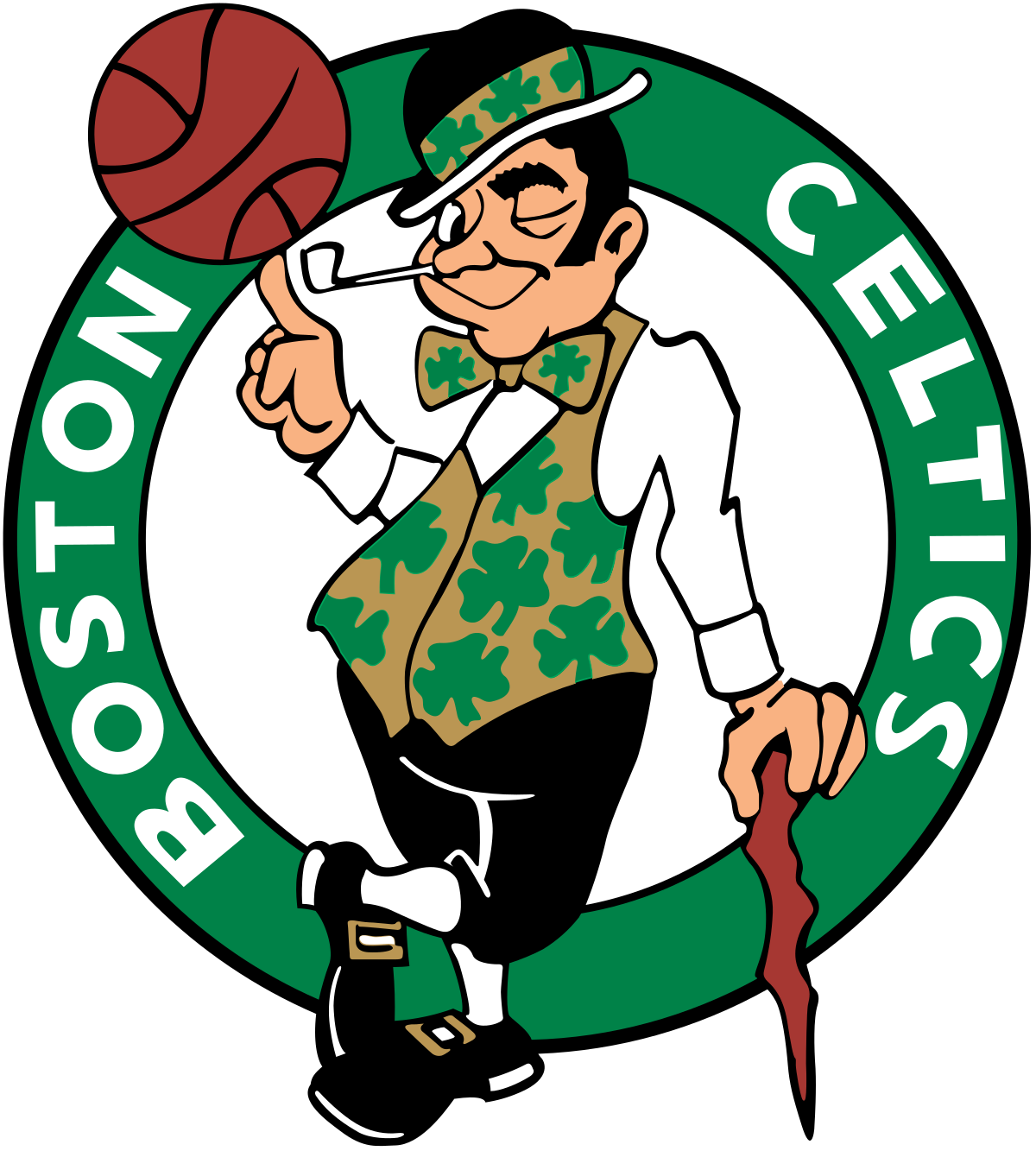 Basketball team with coaches clipart svg transparent download Boston Celtics - Wikipedia svg transparent download