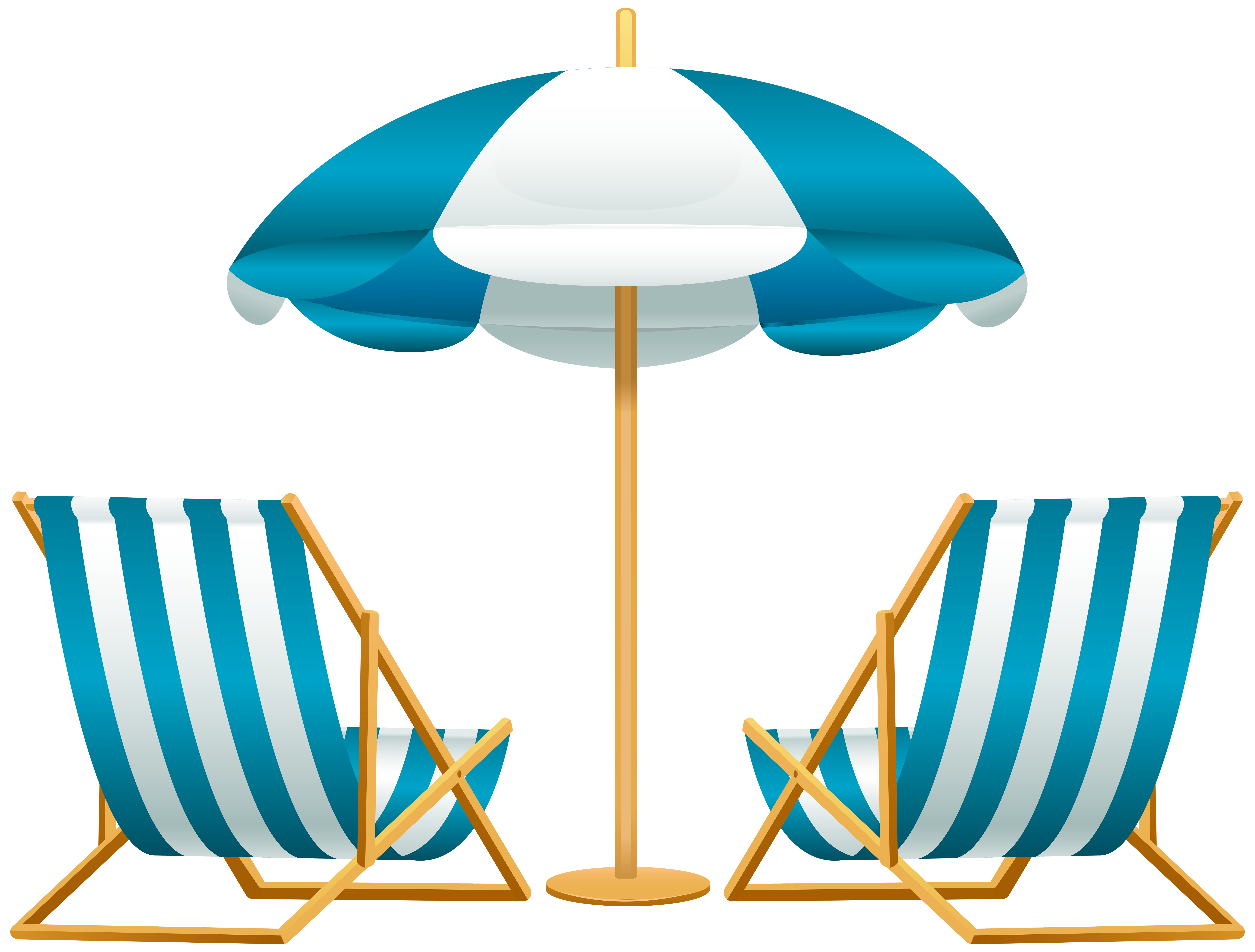 Back of beach chair clipart jpg royalty free Beach Umbrella with Chairs Free PNG Clip Art Image | Gallery ... jpg royalty free