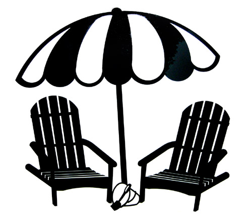 Back of beach chair clipart banner black and white library Free Beach Chair Clipart Black And White, Download Free Clip Art ... banner black and white library