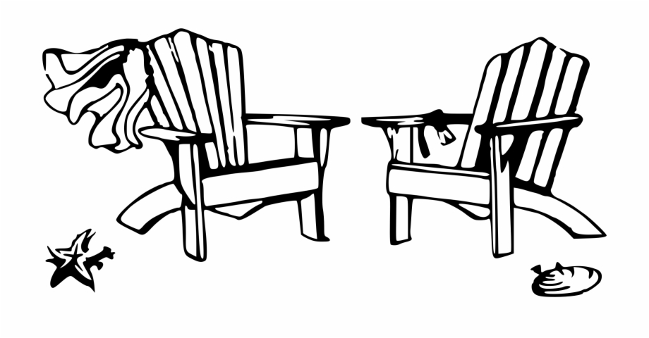 Back of beach chair clipart jpg black and white download Back Of Beach Chair Silhouette - Beach Chairs Clip Art Free PNG ... jpg black and white download