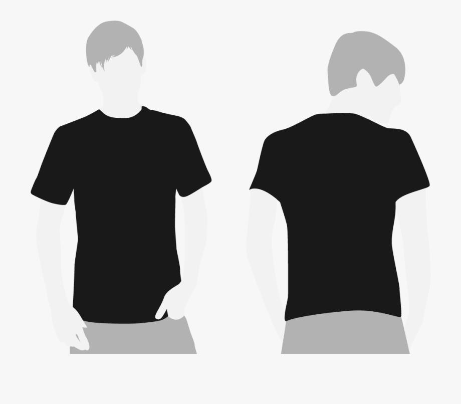 Back of black shirt clipart clipart transparent download Tshirt Clipart Store - Black Tshirt Template Front And Back #106090 ... clipart transparent download