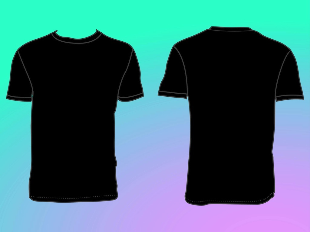 Back of black shirt clipart image library download Free Blank Tshirt, Download Free Clip Art, Free Clip Art on Clipart ... image library download
