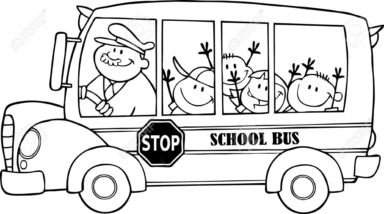 Back of bus clipart black and white banner library School bus bus clipart black and white - Cliparting.com banner library