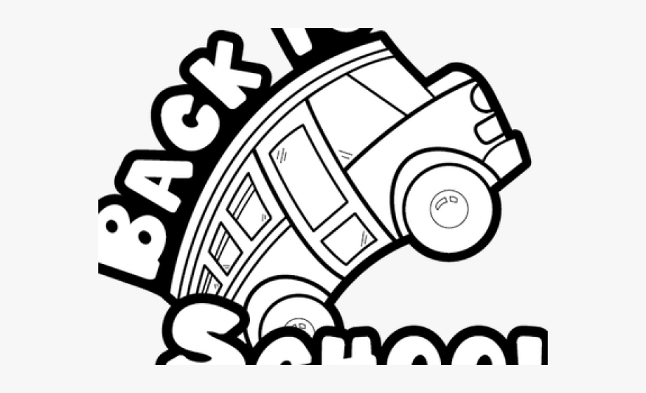 Back of bus clipart black and white jpg transparent download Back To School Clipart Black And White - Black And White School Bus ... jpg transparent download
