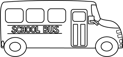 Back of bus clipart black and white graphic library Bus clipart black and white - Cliparting.com graphic library