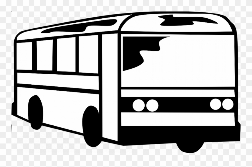 Back of bus clipart black and white clipart transparent download Clip Art Black And White Bus - Png Download (#1387548) - PinClipart clipart transparent download