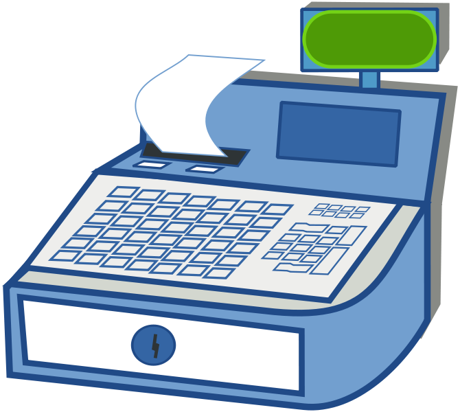 Back Of Cash Register Clipart - Clip Art Library png freeuse