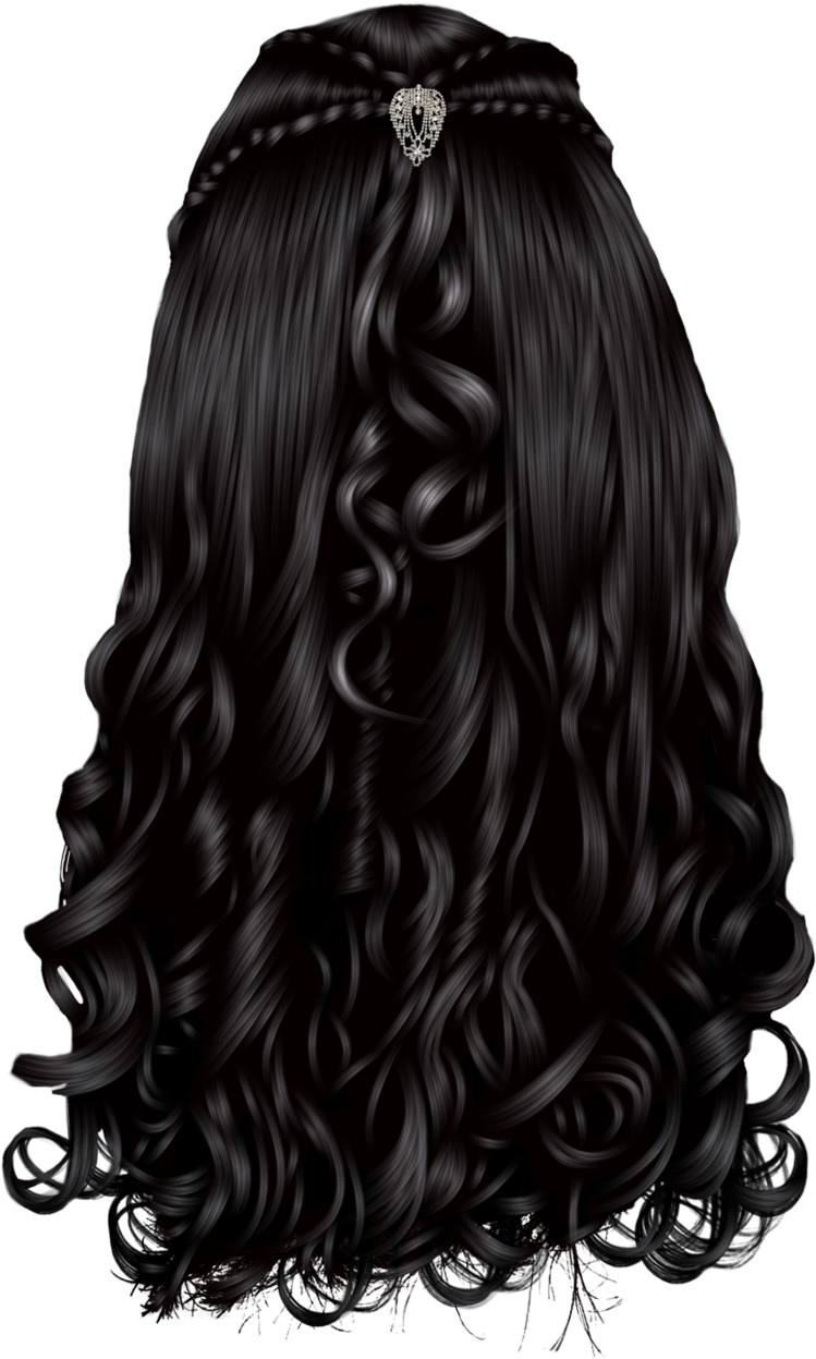 Back of curly hair clipart png royalty free Drawing Back Curly Hair - Back Of Hair Transparent , Transparent ... png royalty free