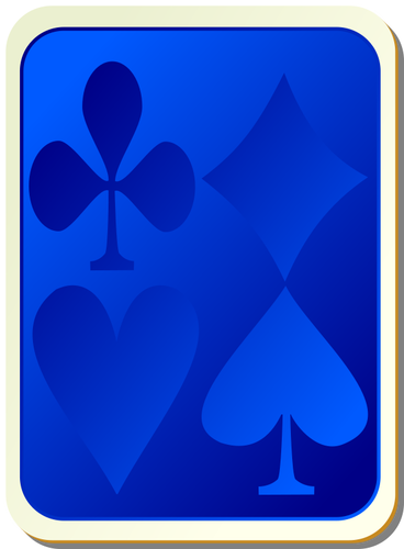 Back of playing card clipart graphic transparent library Playing card back blue vector clip art   Public domain vectors graphic transparent library