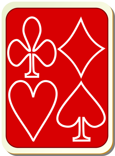 Back of playing card clipart image library download Playing card back red with white vector drawing   Public domain vectors image library download