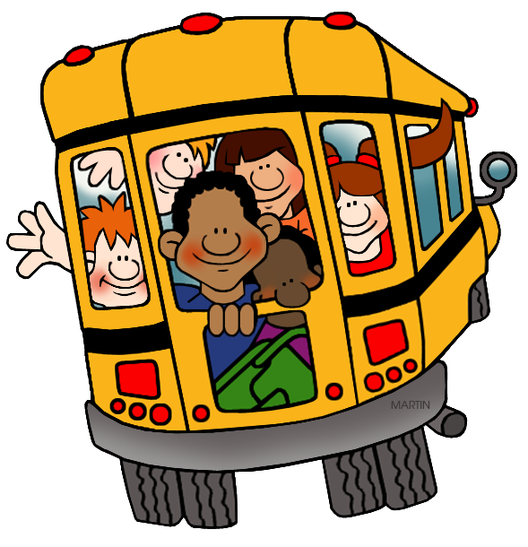 Clipart of school bus banner royalty free stock School Clip Art by Phillip Martin, Back of the School Bus banner royalty free stock