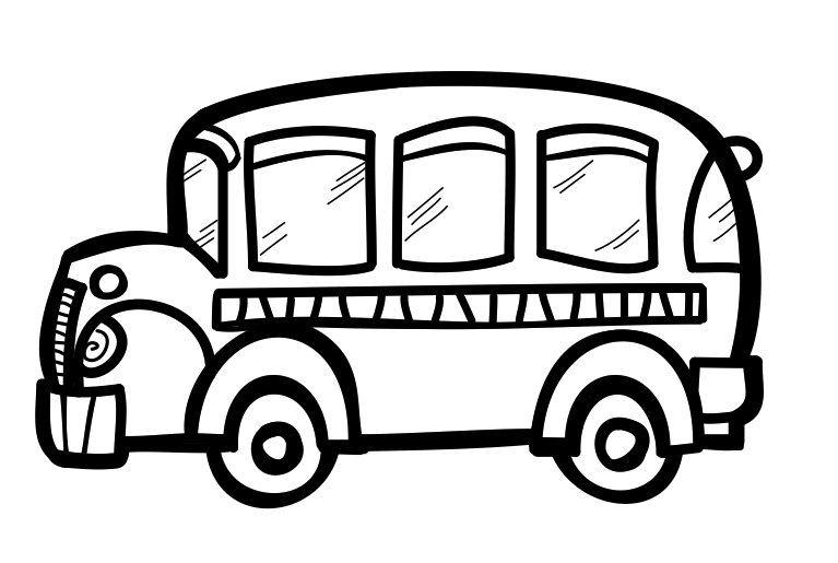 First day of school clipart black and white image library stock School Bus Drawing For Kids at GetDrawings.com | Free for personal ... image library stock