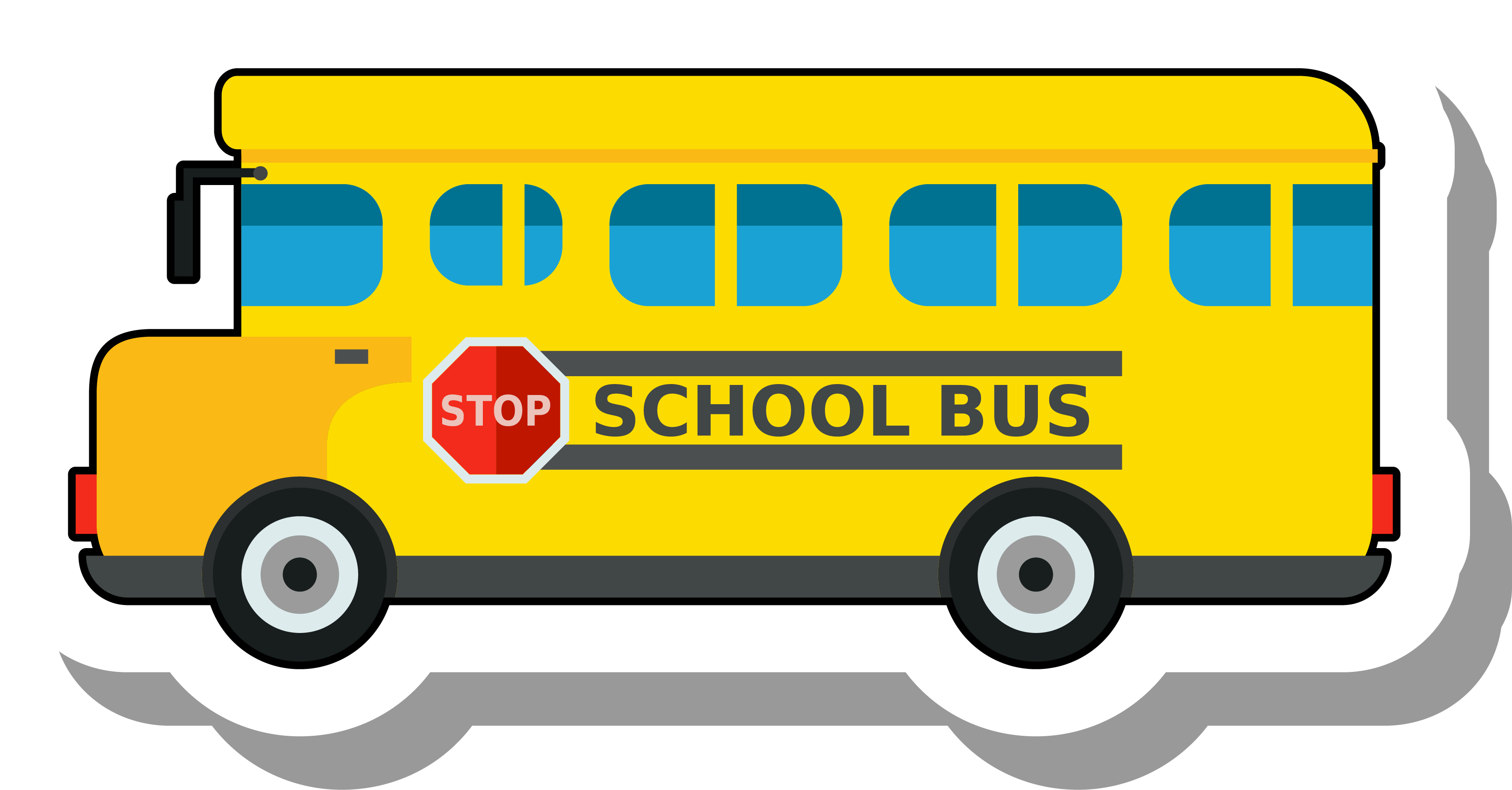 Back of school bus clipart clipart download School bus Clip art - Golden bus school sticker 3457*1806 transprent ... clipart download