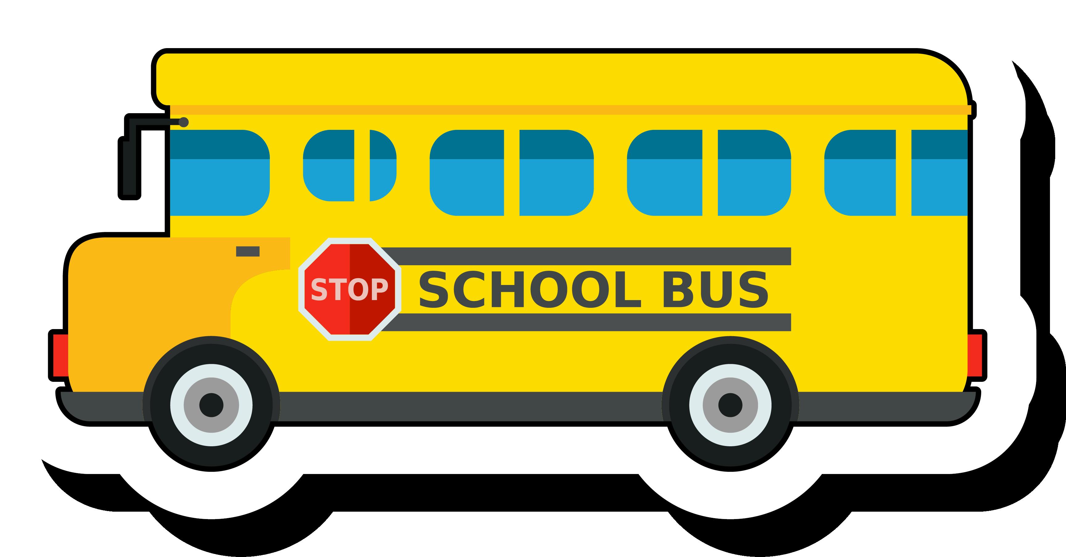 Christmas school bus clipart clip transparent School bus Clip art - Golden bus school sticker 3457*1806 transprent ... clip transparent