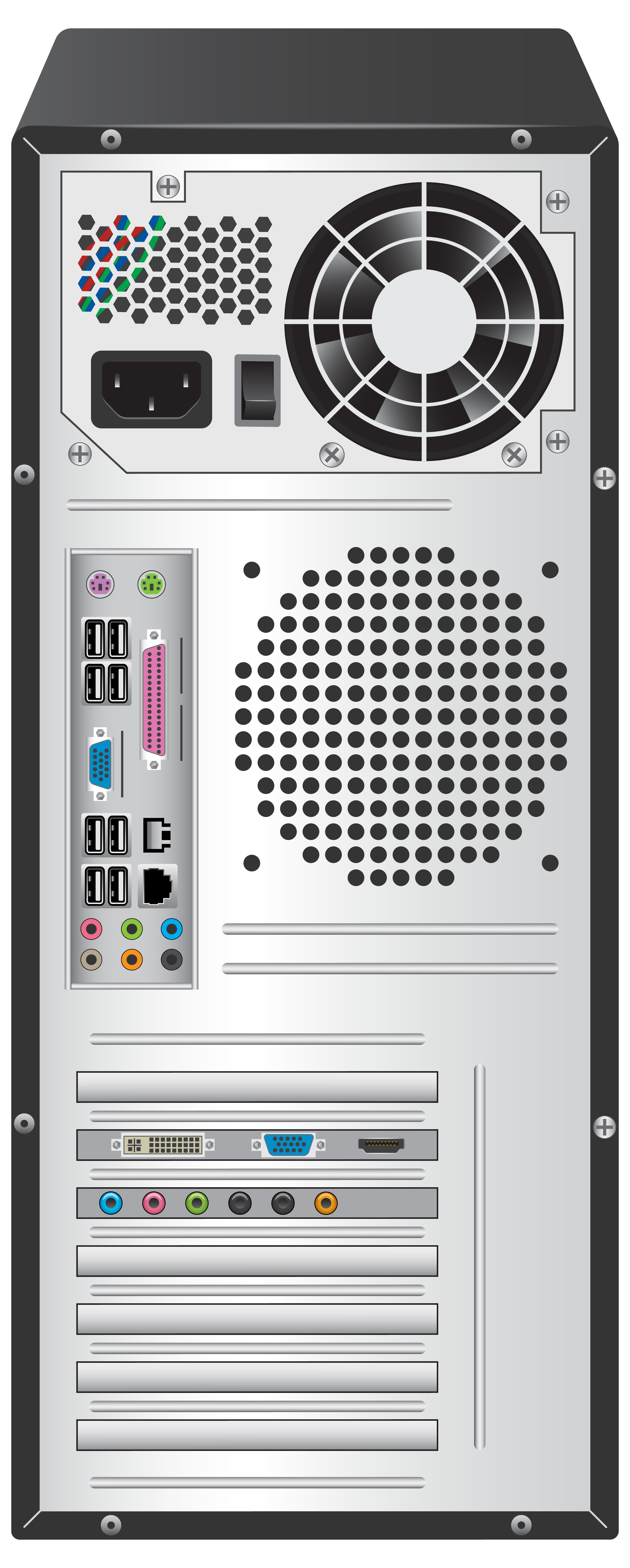 Back of the computer clipart jpg free download Standard Computer Case Back PNG Clipart - Best WEB Clipart jpg free download