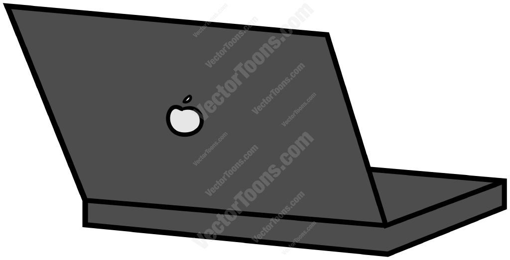 Back of the computer clipart clip black and white stock Back view of an open laptop computer #backview #computer #laptop ... clip black and white stock