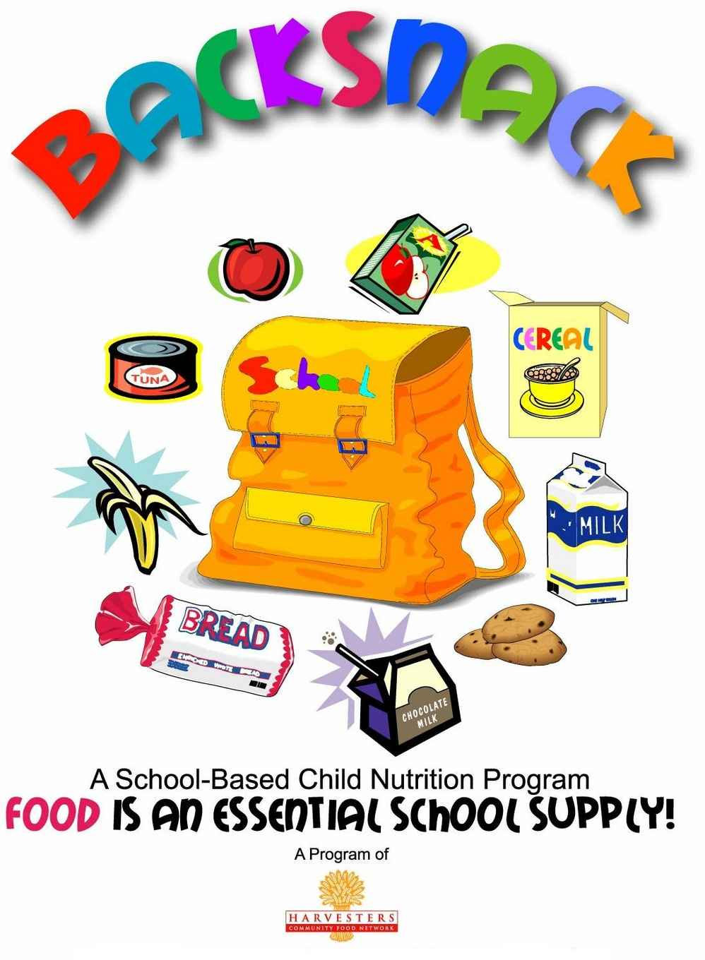 Back packs filled with food clipart vector library stock Harvest Ridge Covenant Church: Shawnee, KS > BackSnack Program vector library stock