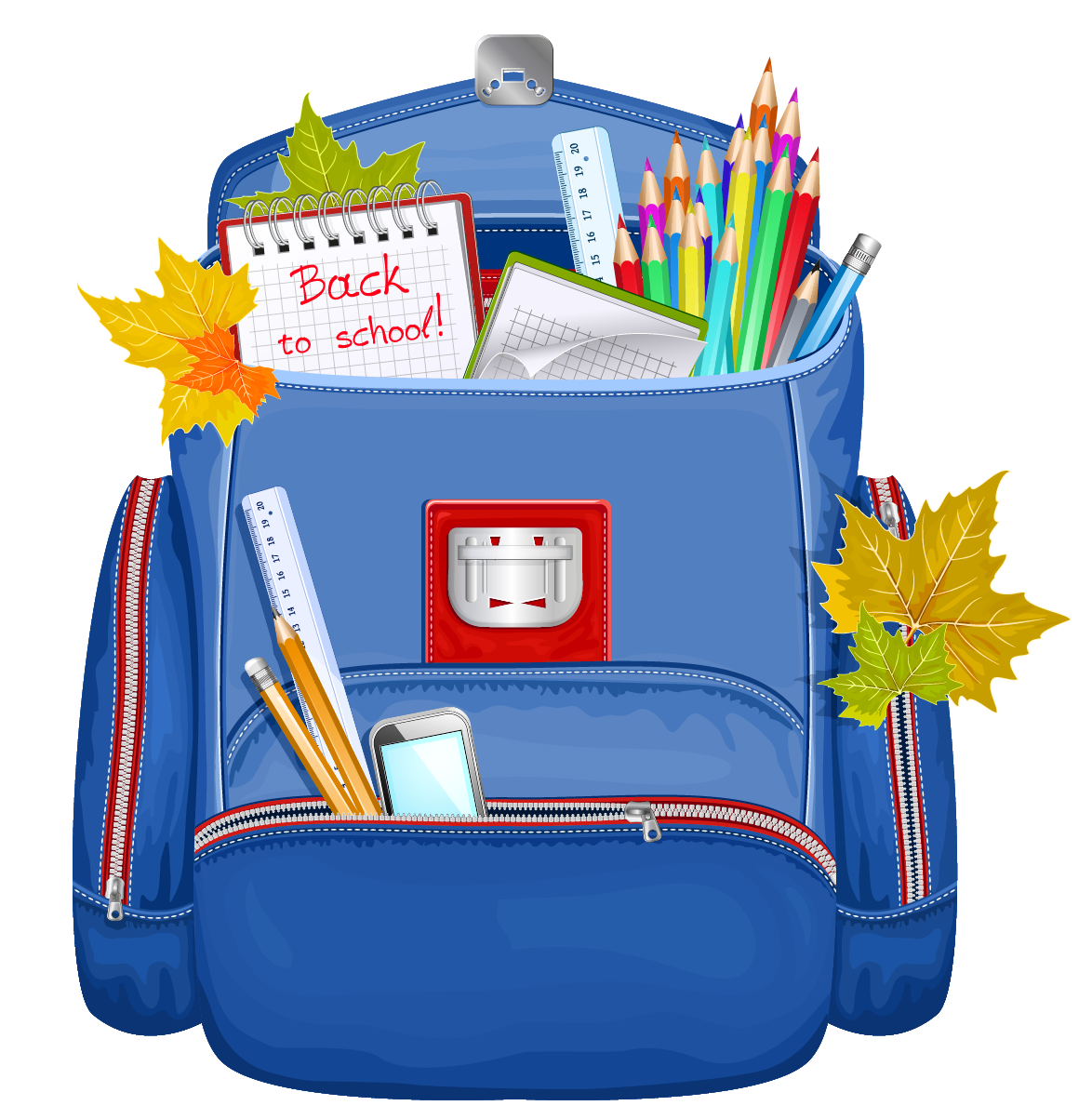 Free animated back to school clipart jpg royalty free Back packs filled with food clipart - ClipartFest jpg royalty free