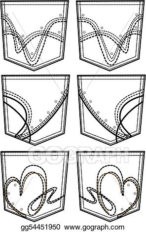 Back pocket clipart clipart library library Vector Art - New style back pockets. Clipart Drawing gg54451950 ... clipart library library