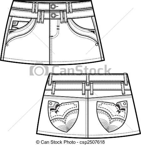 Back pocket clipart clip art royalty free stock denim skirts clip art royalty free stock