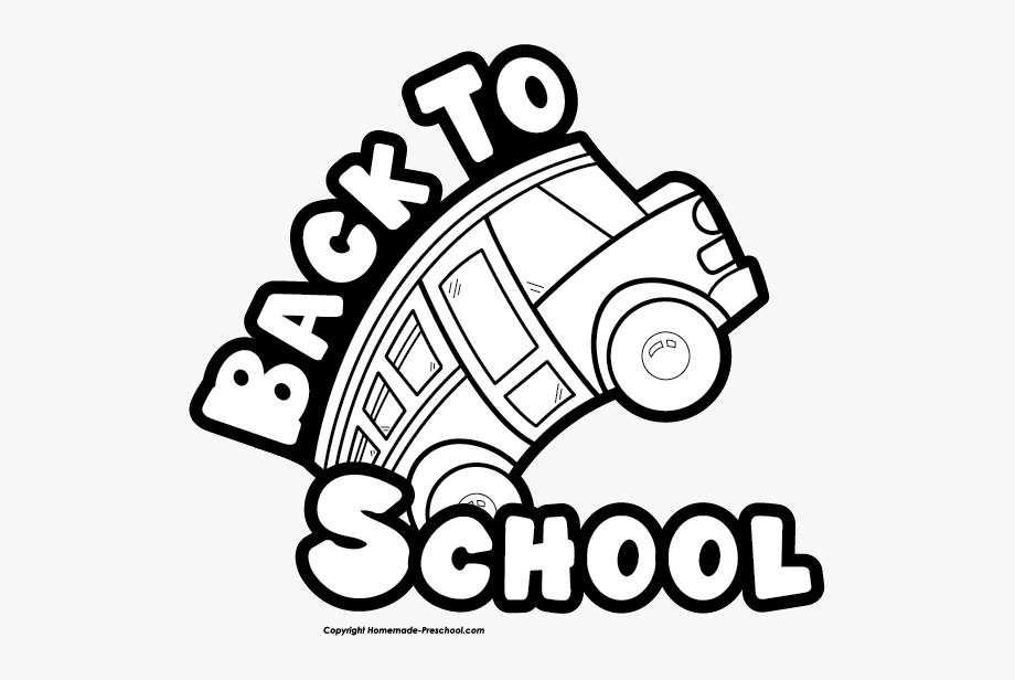 Back to school bash clipart black and white banner freeuse library Free School Clipart - Back To School Black And White #15786 - Free ... banner freeuse library