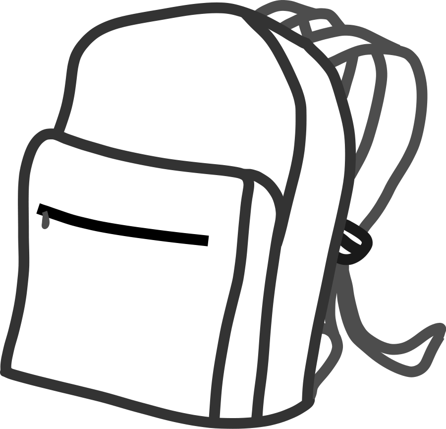 Clipart black and white school picture royalty free School Bags Drawing at GetDrawings.com | Free for personal use ... picture royalty free