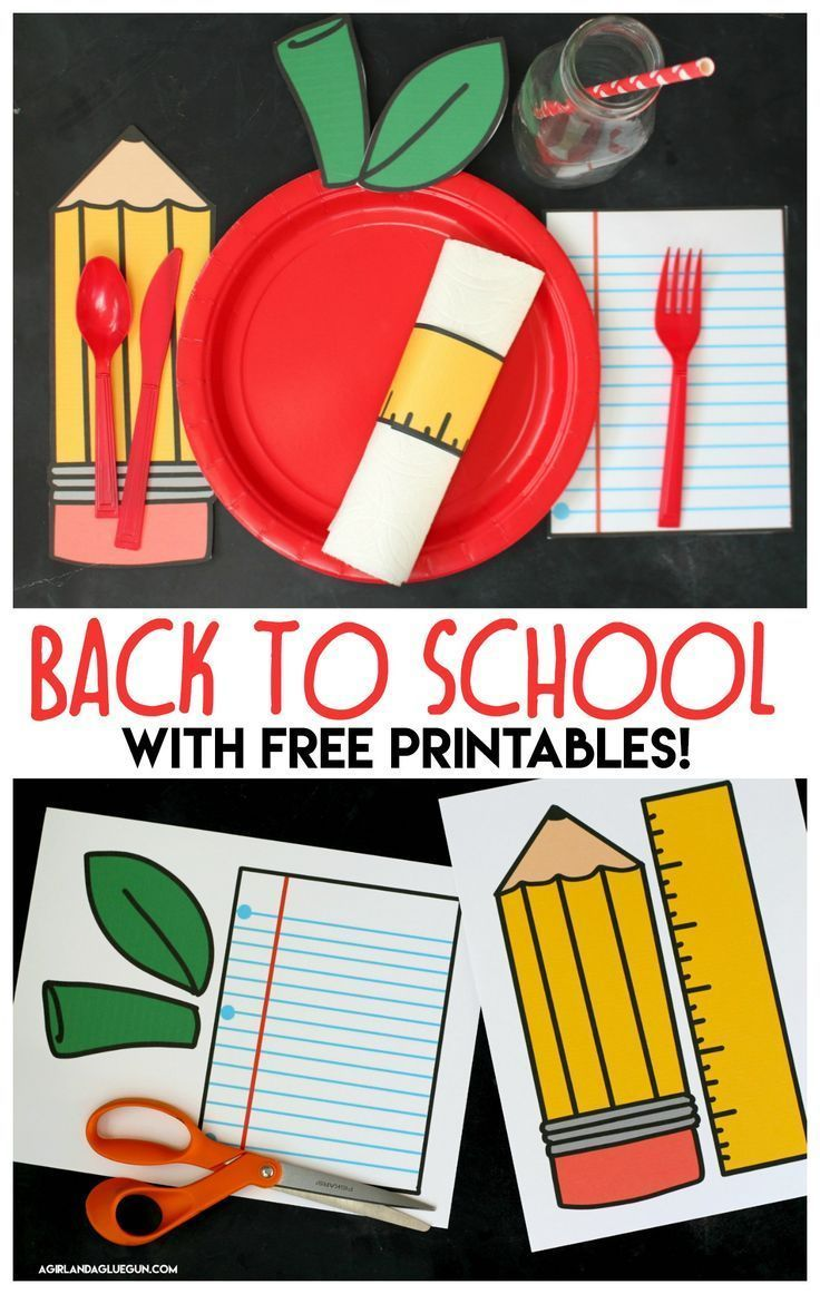 Back to school breakfast clipart picture transparent Back to school table settings with free printables | Freebies | Back ... picture transparent