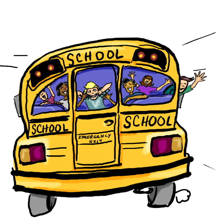 Free clipart images school banner library library 28+ Collection of School Bus Drawing Png | High quality, free ... banner library library