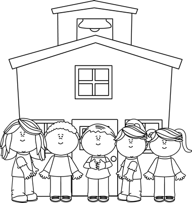 Kid school house clipart black and white clip 46+ School Clip Art Black And White | ClipartLook clip