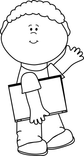 Little boy clipart black and white banner black and white library Back To School Clip Art Black And White | Clipart Panda - Free ... banner black and white library
