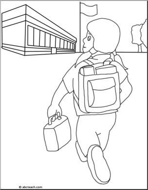Back to school clipart babies black and white picture free download Clip Art: Kids: Back to School 2 B&W I abcteach.com | abcteach picture free download