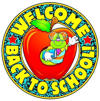 Back to school clipart carson-dellosa graphic black and white library Amazon.com : Carson Dellosa Welcome Back to School! Two-Sided ... graphic black and white library