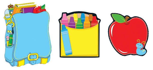 Back to school clipart carson-dellosa graphic free library Carson-Dellosa School Themed Notepad Set, 5-3/4 x 8-1/4 Inches, 50 Sheets  Each, Set of 3 Pads graphic free library