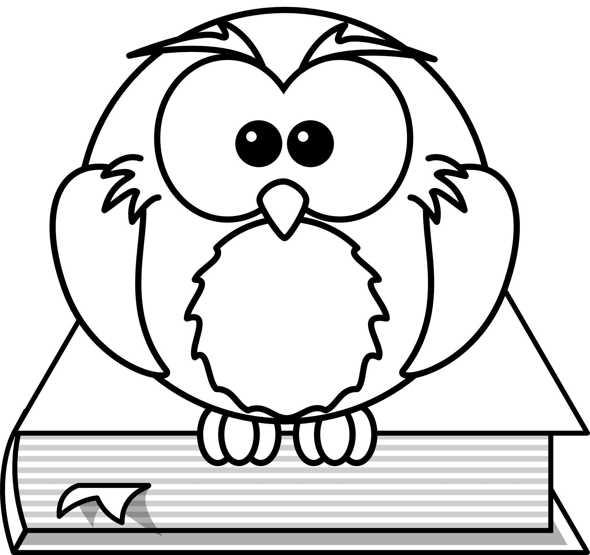 Clipart smart owl colored book svg library download Owl Clipart Black And White | Clipart Panda - Free Clipart Images svg library download