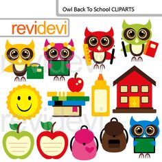 Back to school clipart pinterest vector transparent 146 Best Back to School ClipArt Illustrations images in 2015 ... vector transparent