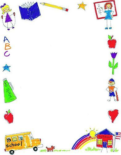 Back to school clipart pinterest banner library download Pins Daddy School Clip Art Borders Printable Image Picture to Pin on ... banner library download
