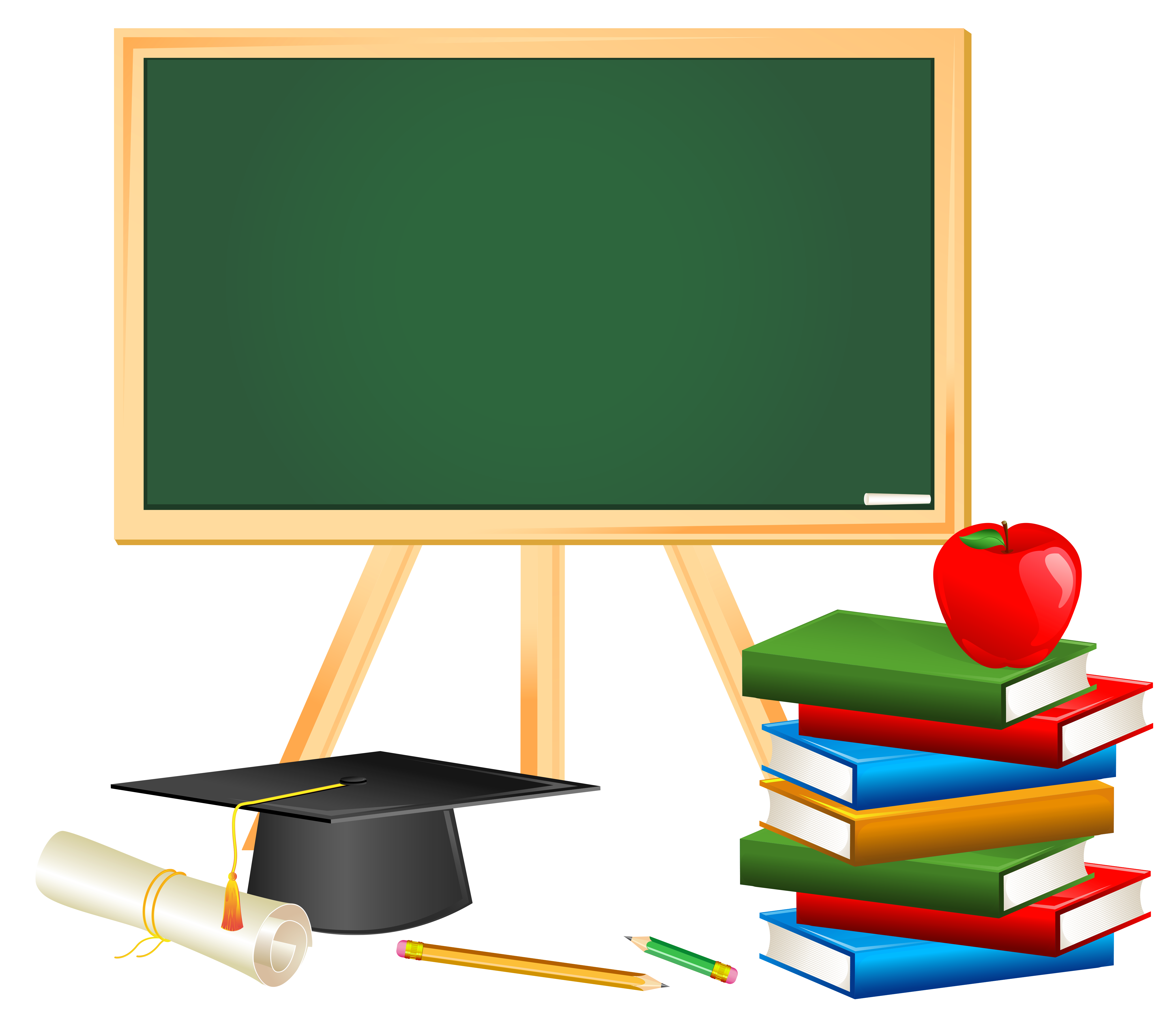 Back to school free clipart svg black and white download School Board and Decors PNG Picture | Gallery Yopriceville - High ... svg black and white download