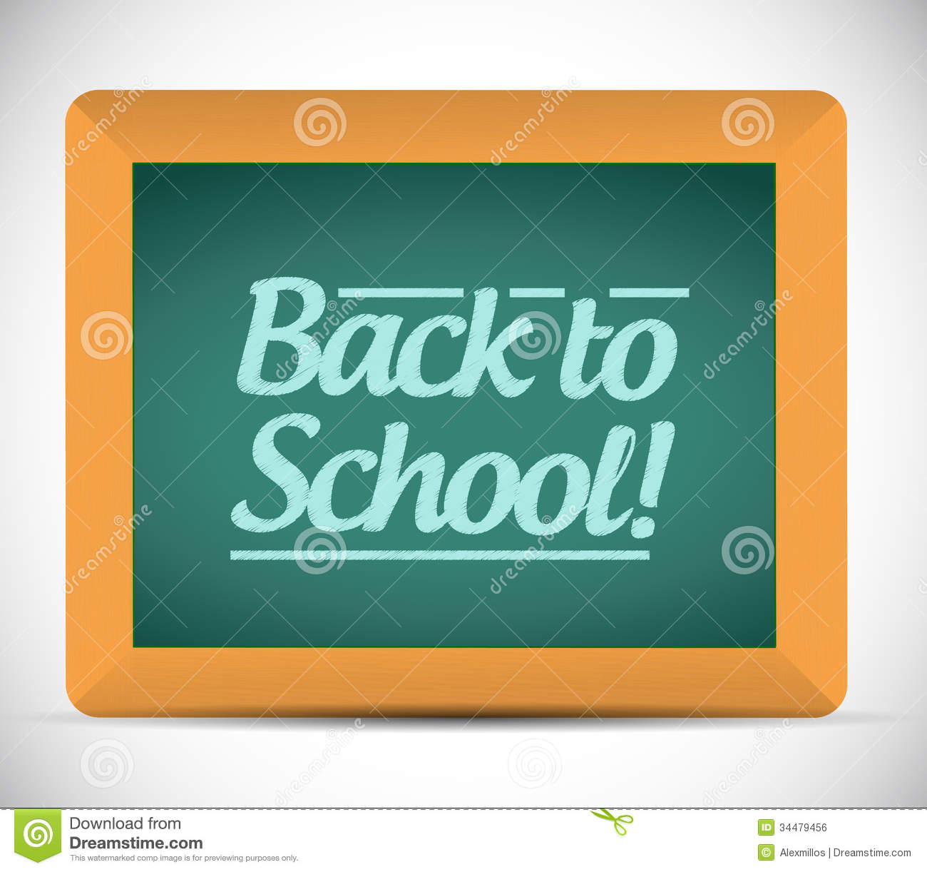Back to school message clipart graphic library stock Back To School Message Written On A Chalkboard Royalty Free Stock ... graphic library stock