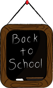 Back to school message clipart clipart transparent download Back To School Clipart Image - Clip Art Illustration of a ... clipart transparent download