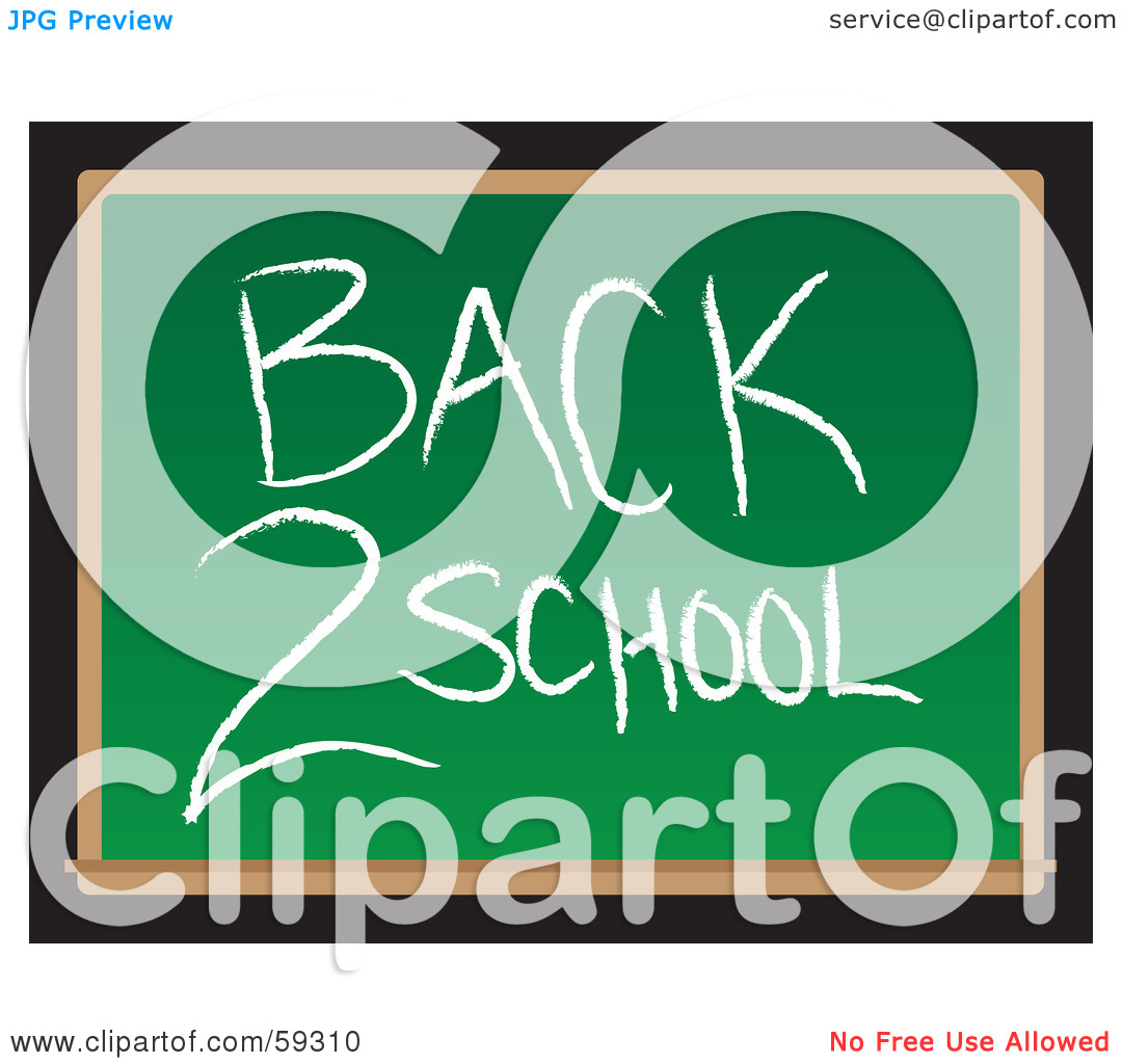 Back to school message clipart clip library download Royalty-Free (RF) Clipart Illustration of a Back 2 School Message ... clip library download