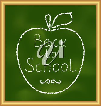 Back to school message clipart clipart black and white download Clipart Illustration of a Back to School Message clipart black and white download